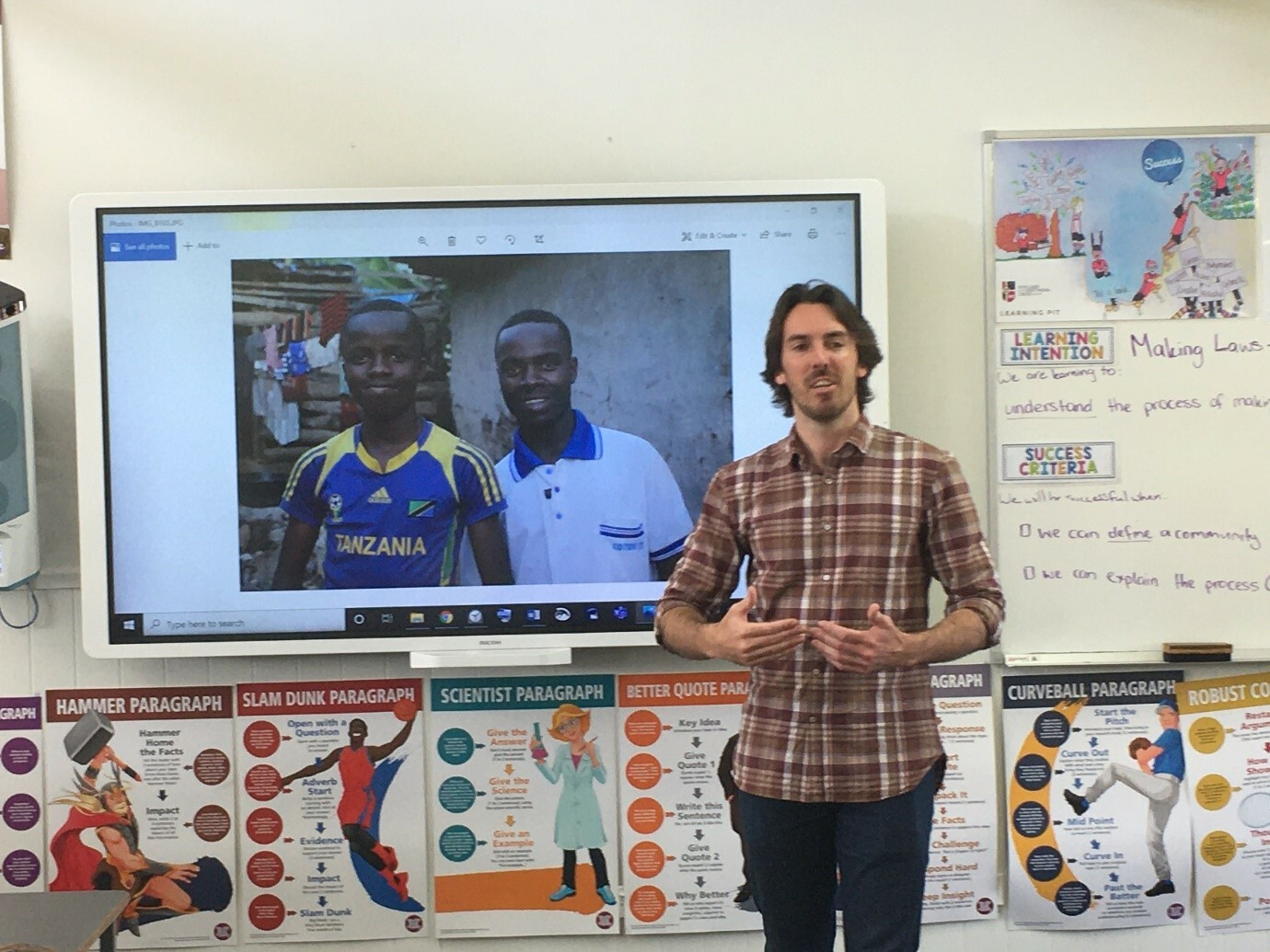 Lachlan Miller speaking to yr 8 class